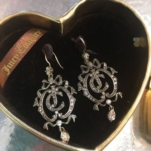 Vintage juicy couture earrings rhinestone crystal